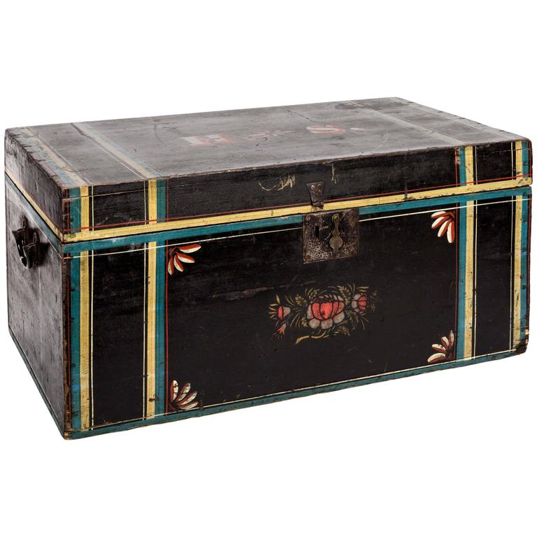 American Paint Decorated Wood Chest