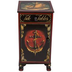 Nautical Painted Cabinet