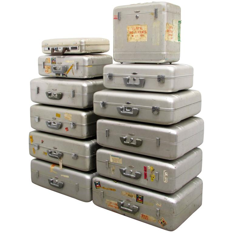 Collection of Vintage Zero Halliburton Aluminium Luggage at 1stdibs