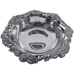 Tiffany Sterling Silver Bowl in Famed Clover Pattern