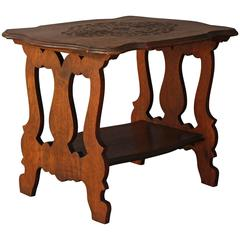 1920s Carved Spanish Revival Side Table