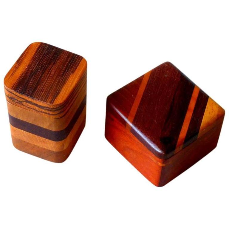 Two Rare Wood Heirloom Boxes by Timothy Lydgate