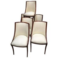 Set of Six Italian Mid-Century Dining Chairs