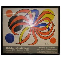 Alexander Calder Exhibition Poster Phoenix, 1978