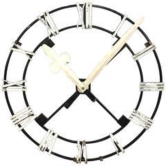Vintage Church Clock Skeleton with Metal Hands