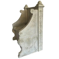 Grand Tour Plaster Model of Roman Throne