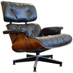 Vintage 1970s Rosewood Eames 670 Lounge Chair