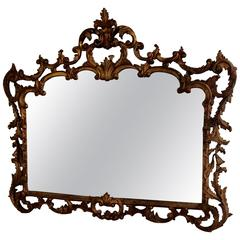 Gorgeous Giltwood French Antique Mirror