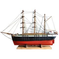 Large Scandinavian Scratch-Built Model Ship