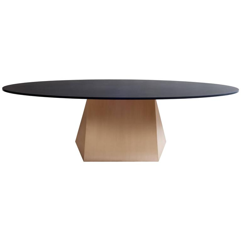 Henry Dining Table, Bronze and Stone