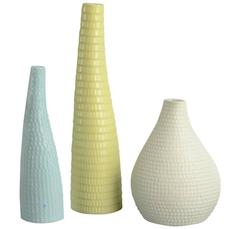 "Three ""Reptil"" Vases by Stig Lindberg for Gustavsberg"