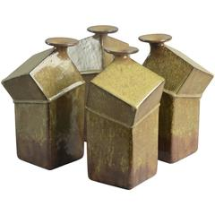 Set of Four Bottle Vases by Rolf Overberg