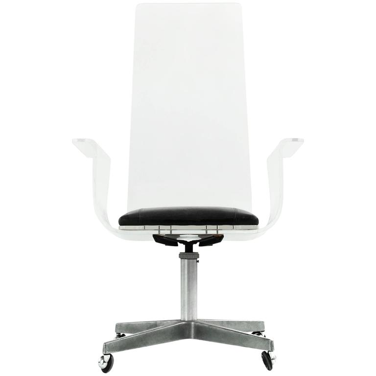 lucite office chair. Lucite Desk Chair In The Style Of Laverne For Sale Office E