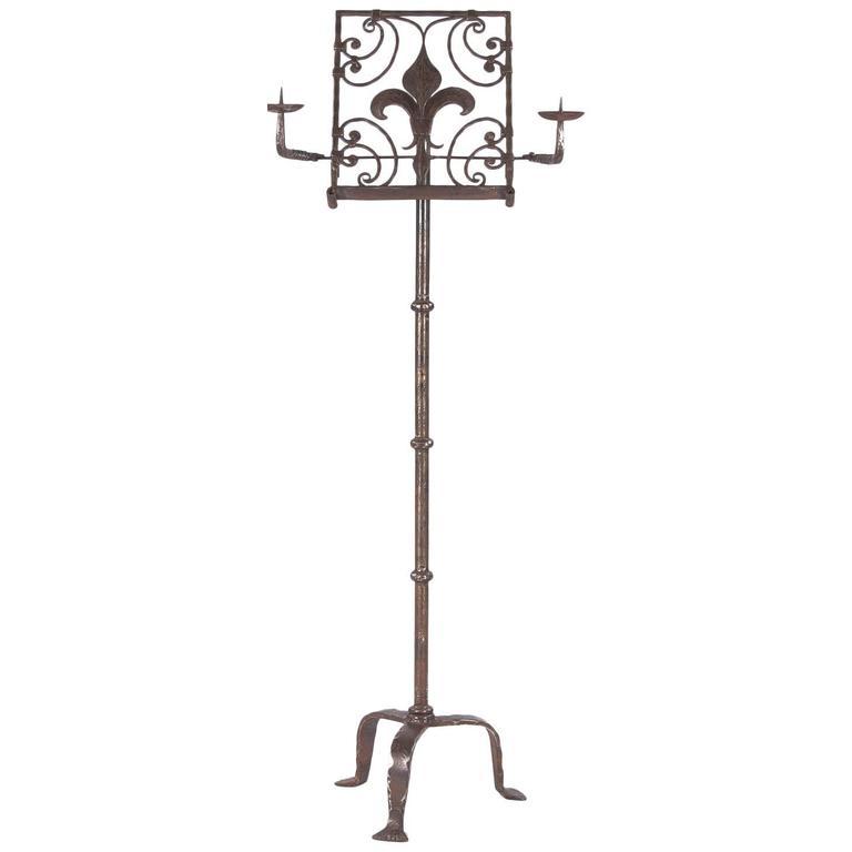 19th Century French Iron Music Stand