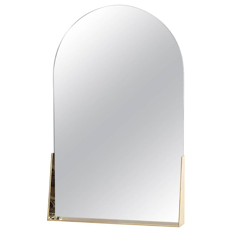 Feehan Mirror in Brass