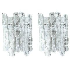 Kalmar 2 Panel Ice Glass Sconces
