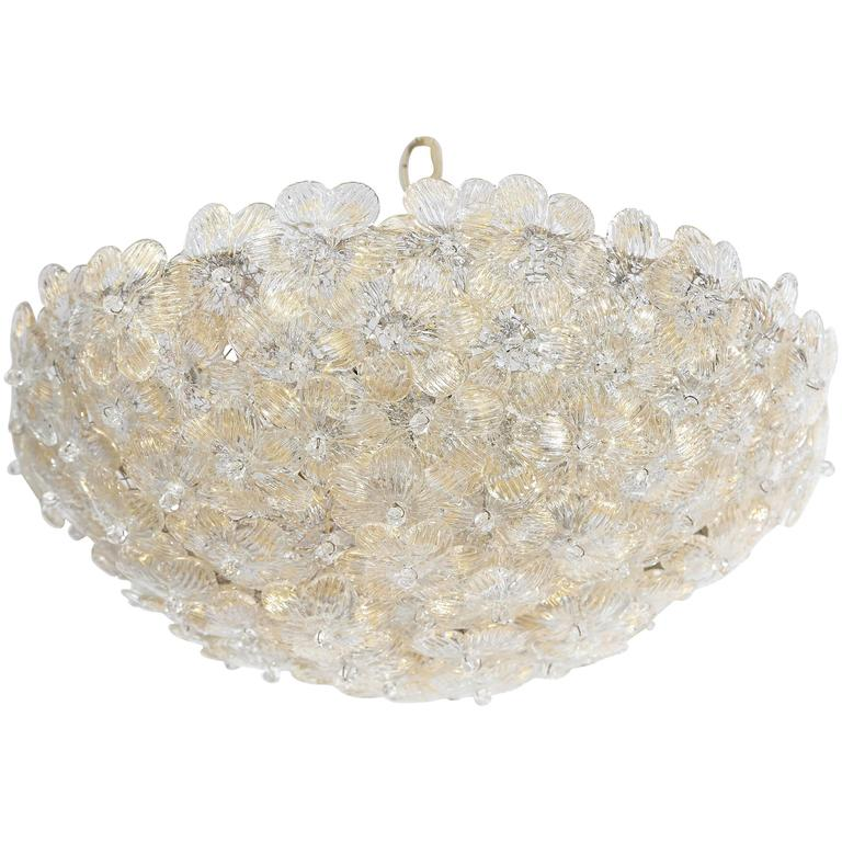 Barovier Murano Glass Flower Chandelier