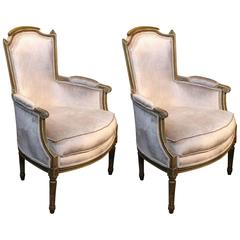 Pair of Louis XVI Bergere Chairs