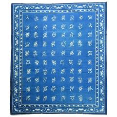Blue Antique Chinese Peking Room Size Carpet