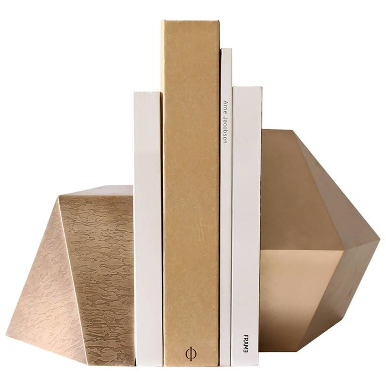 Poly Bookends, Bronze For Sale