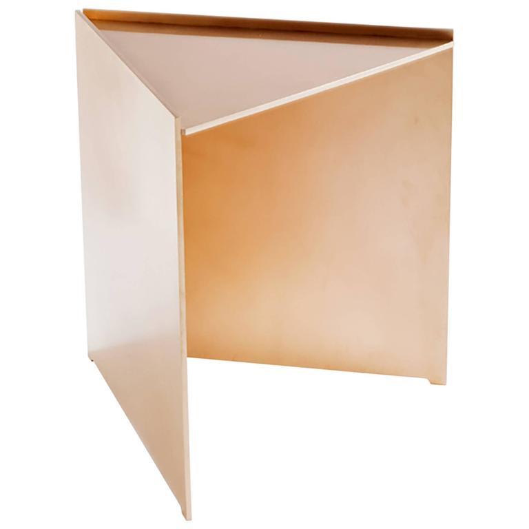 Samuel Side Table, Bronze