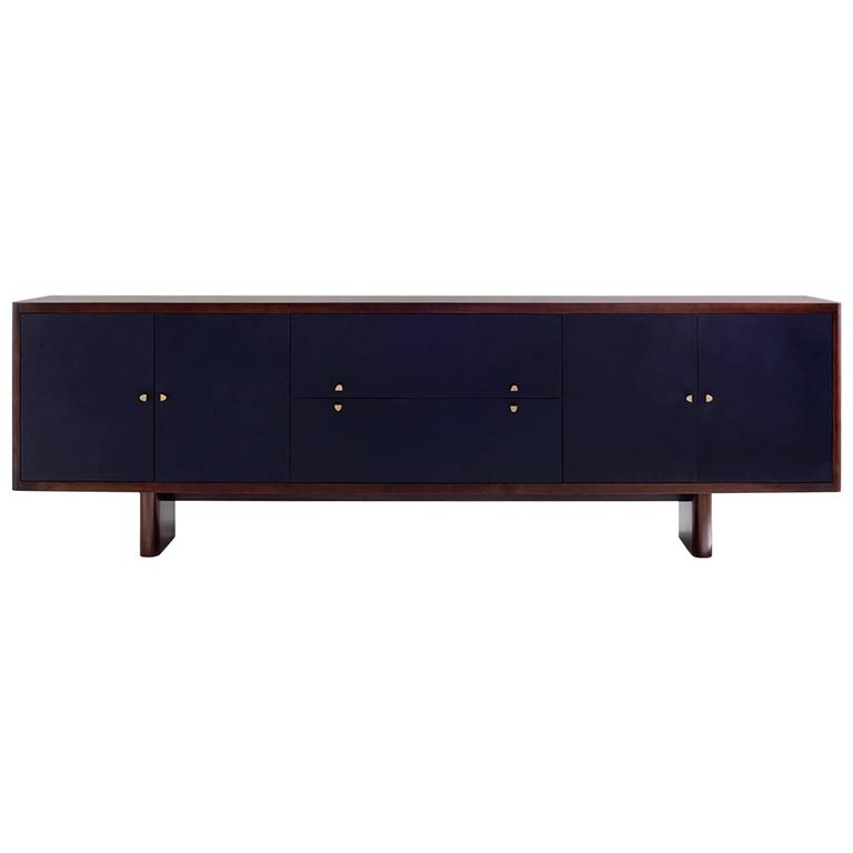 "96"" Turner Sideboard, Solid Wood and Leather"