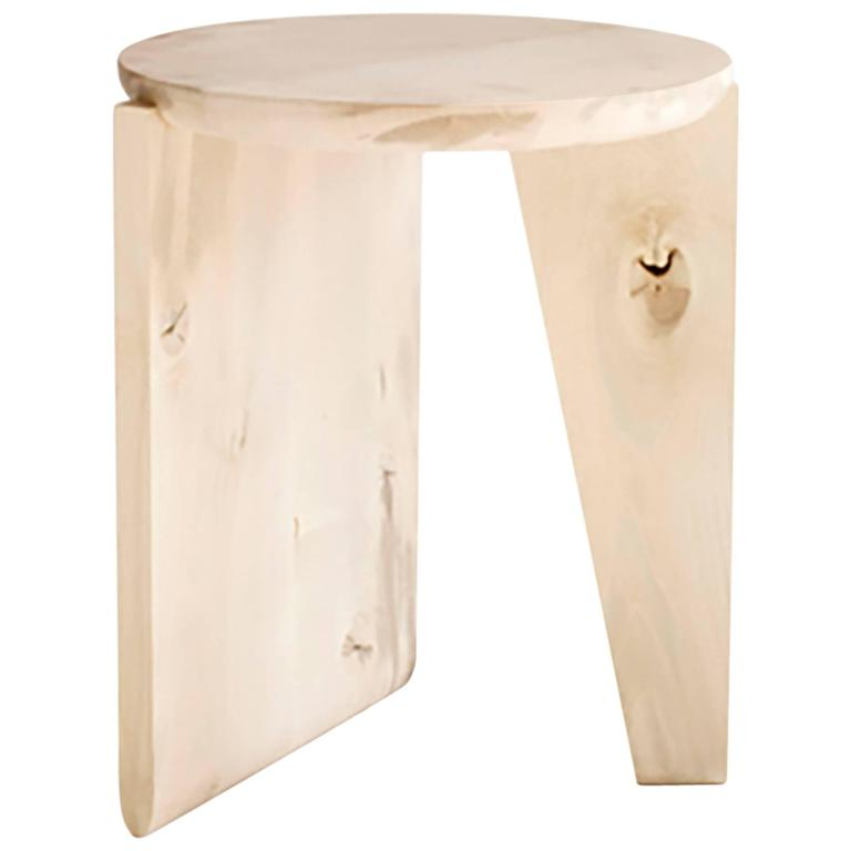 Wu Side Table or Stool, Solid Wood