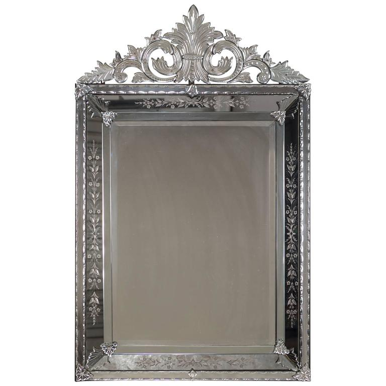 Antique Venetian Style French Pareclose Mirror, circa 1890