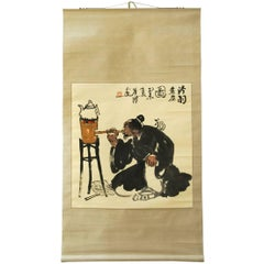 Chinese Scroll Lu Yu Sage of Tea