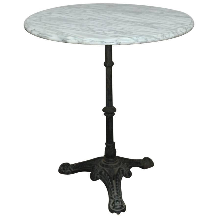 French parisian marble top bistro table for sale at 1stdibs for Table 7 bistro