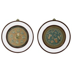 Pair of 19th Century Framed Chinese Silk Embroideries