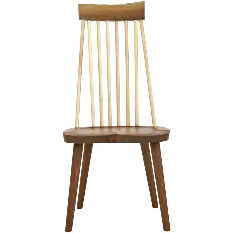 shaker style high back hardwood chair in walnut and maple by amish rh 1stdibs com