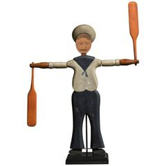 American Folk Art Sailor Whirligig, Nantucket, circa 1900