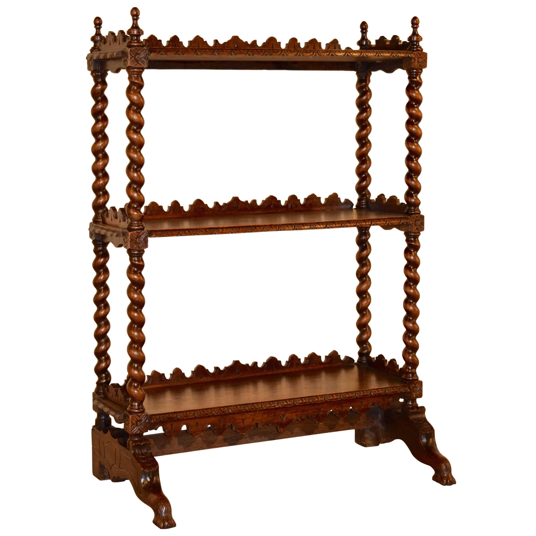 19th Century French Oak Standing Shelf