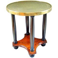 Art Nouveau Side Table, France, 1910, Brass