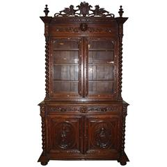 Gorgeous 19th Century French Black Forest Cabinet