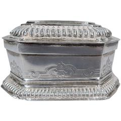 Antique German Silver Spice Box by Eyssler in Nuremberg