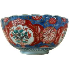 Early 19th Century Japanese Lobed Pottery Bowl