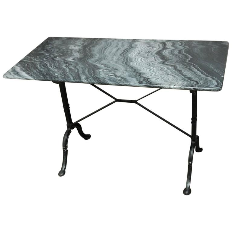 French Marble Bistro Table 1