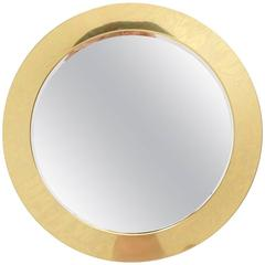 Curtis Jere Porthole Mirror, Brass with Original Mirror, Signed