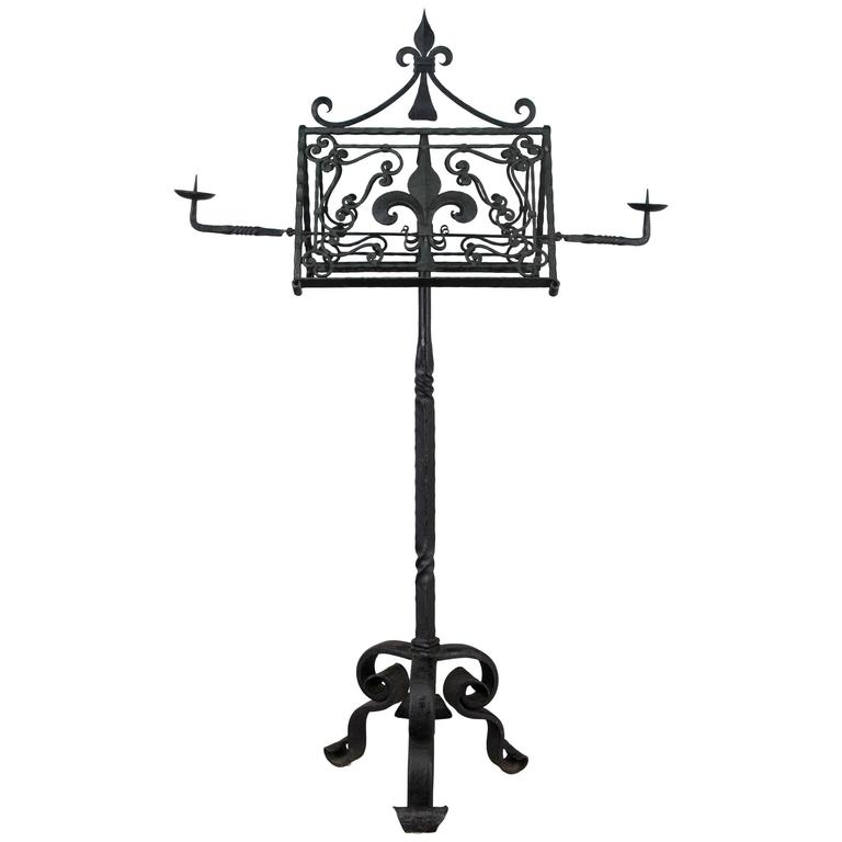 19th Century French Wrought Iron Lectern For Sale