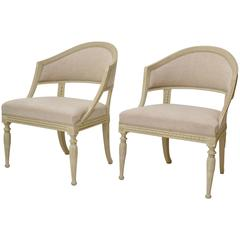 Pair of Late Gustavian Swedish Armchairs Attributed to Ephraim Stahl, circa 1800