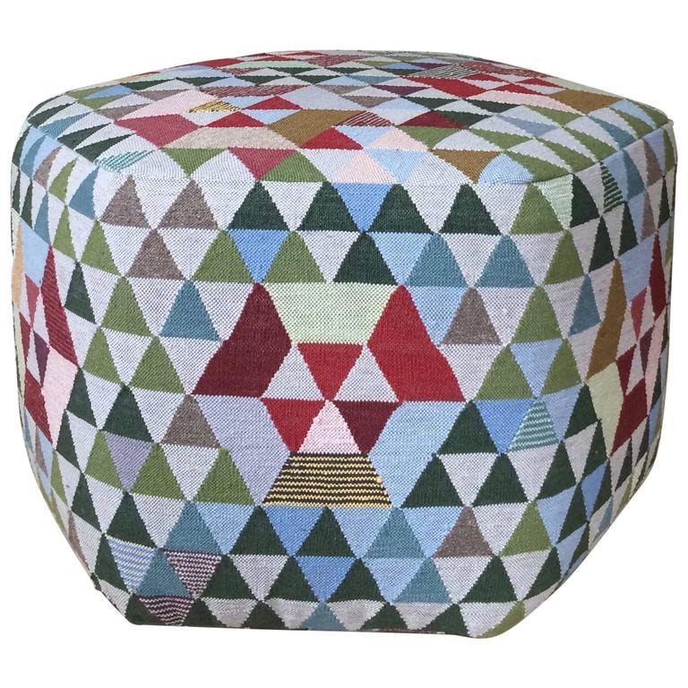 Kelim Modern triangles pouf by bertjan pot for golran modern kelim technique