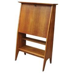 French Desk Secretary and Bookshelf Cabinet by Rene Gabriel