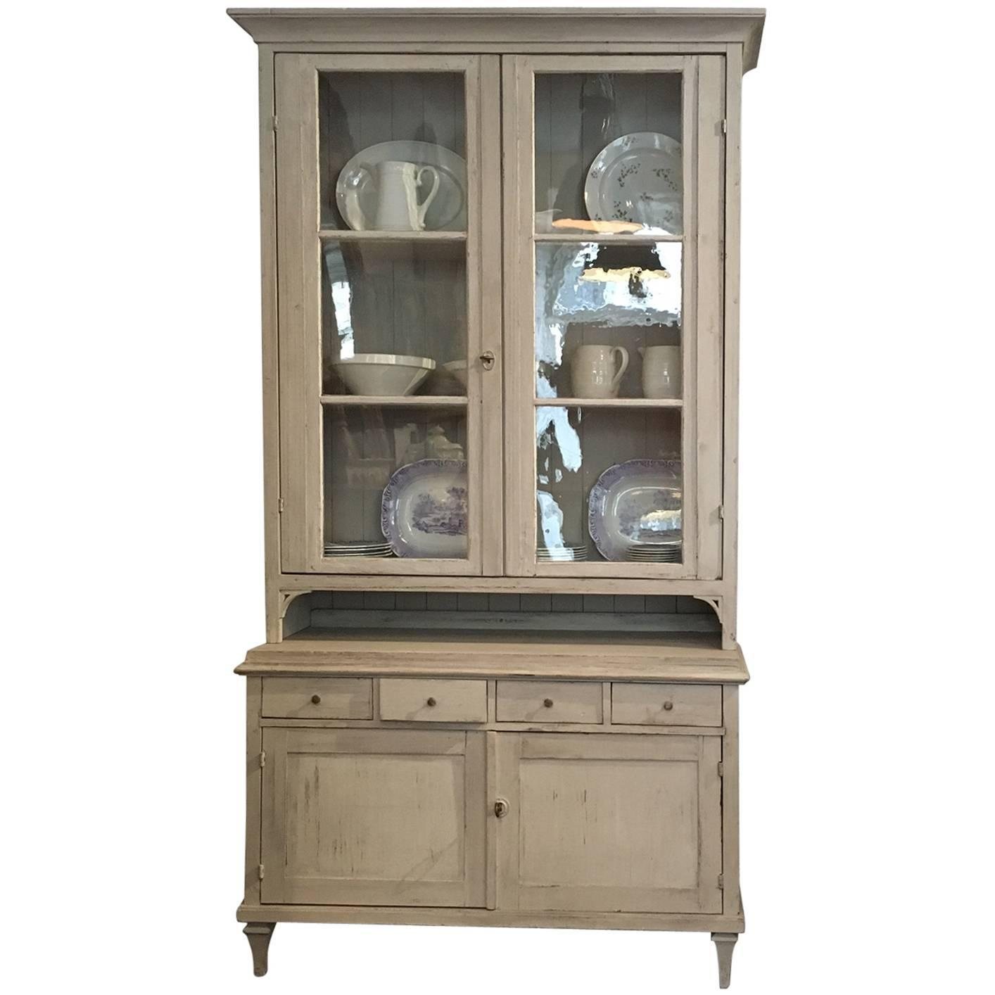 Swedish vitrine cabinet gustavian style at 1stdibs for Sideboard vitrine