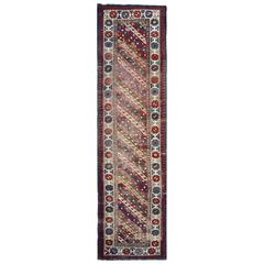 Antique Rugs, Caucasian Carpet Runners, Ganjeh Runner Rugs, Carpet from Caucasus