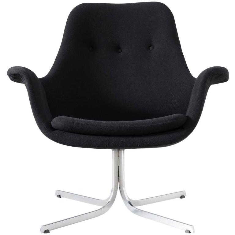 Pierre Paulin Rare Black 'Tulip' Chair for Artifort