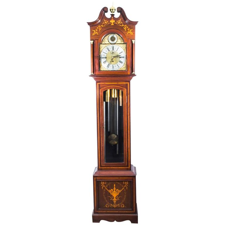 Early 20th Century English 5 Tube Musical Longcase Clock