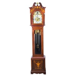 Antique Late Victorian English 5 Tube Musical Longcase Clock 19th Century