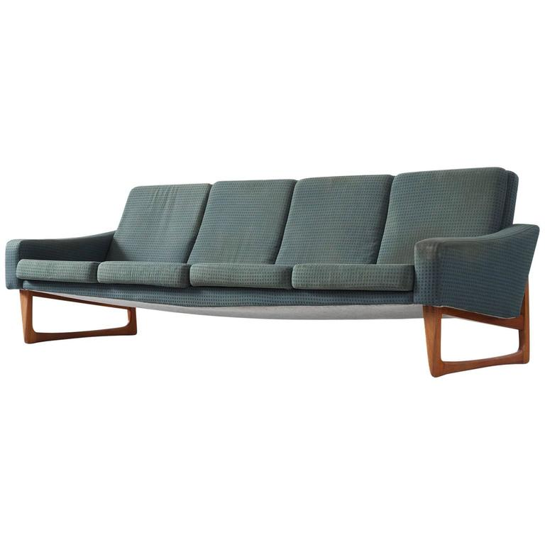 Scandinavian Four-Seat Sofa For Sale